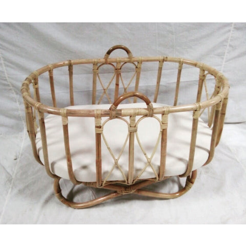 rattan bassinet baby nursery cot cane bassinet wicker Byron Bay the rattan collective crib pregnant baby shower
