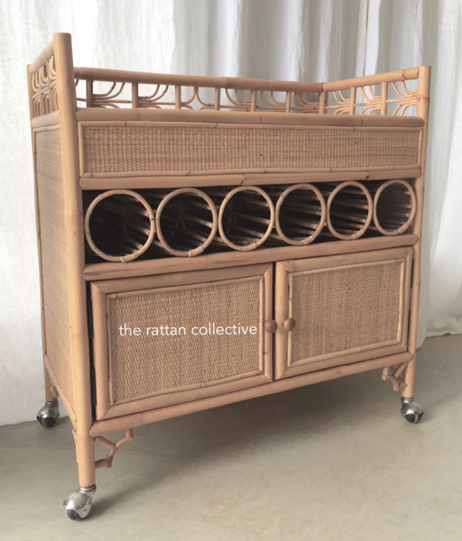rattan barcart cane barcart rattan furniture the rattan collective byron bay