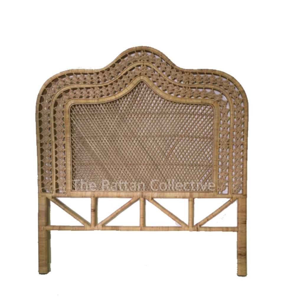 rattan bedhead single queen king byron bay bed