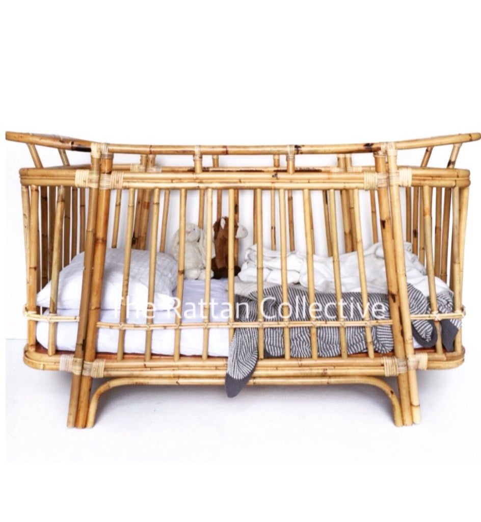 rattan cot crib cradle bassinet wategos byron bay beach cot baby bed rattan furniture byron bay the rattan collective nursery toddler moses basket newborn pregnancy symptoms baby cane cot wicker cot