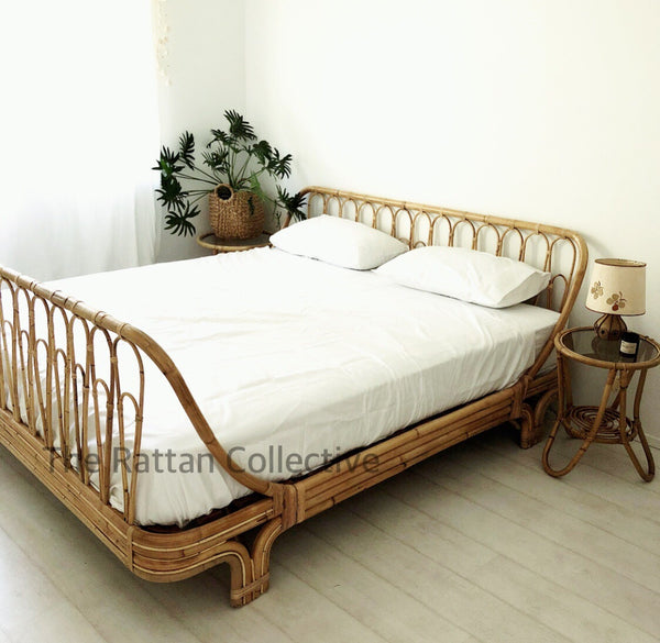 Halcyon rattan bed for luxury with a relaxed vibe  Byron Bay