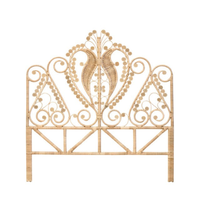 rattan bedhead peacock bed head family love tree splendour rattan collective