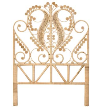 peacock bed head king single splendour rattan collective family love tree