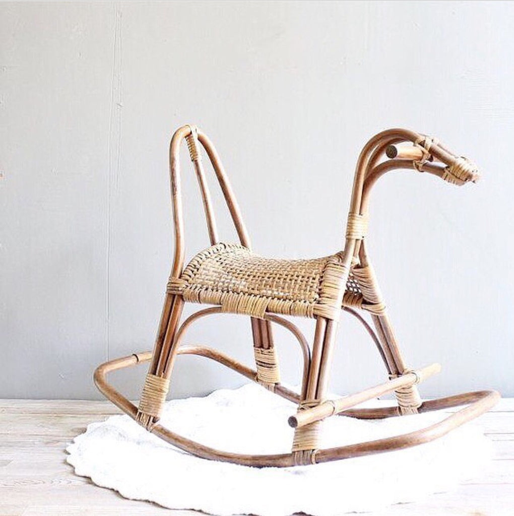 rattan rocker rocking horse rattan kids toys kids furniture byron bay hanging chairs rattan beds daybeds