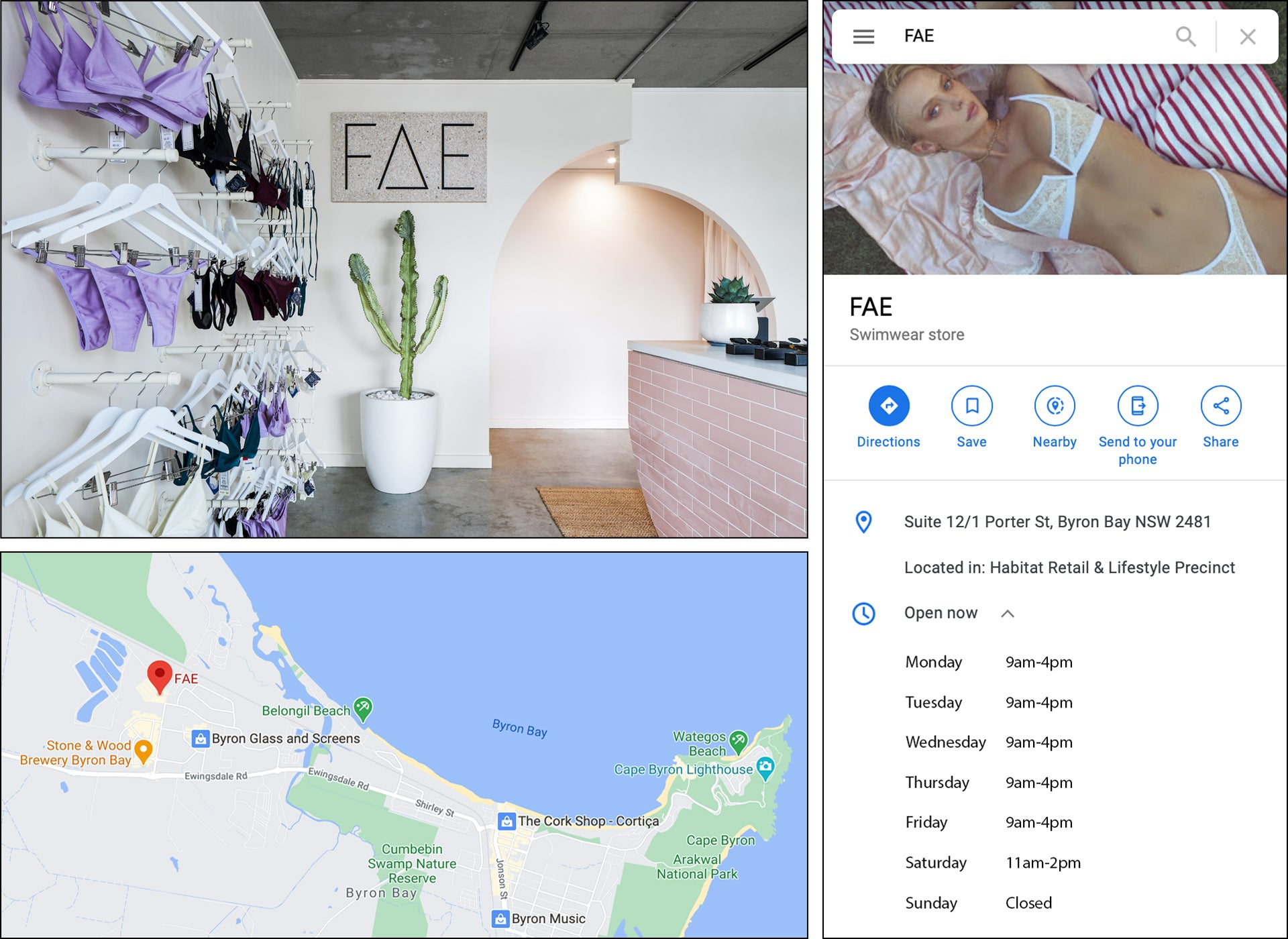 FAE SWIM RETAIL SHOWROOM Byron Bay