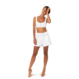 Ziggy Rib Top Blanc