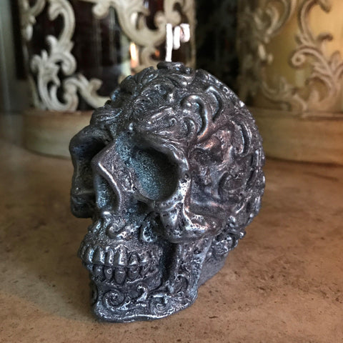 Baroque Skull Candle