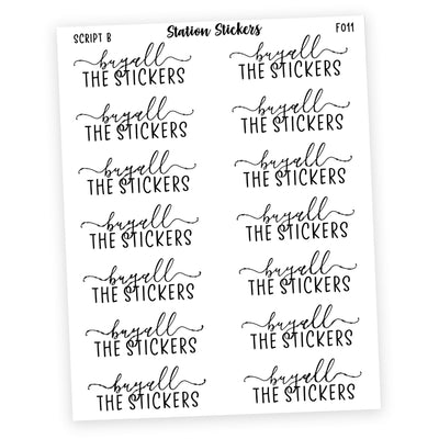 BUY ALL THE STICKERS • SCRIPTS - Station Stickers