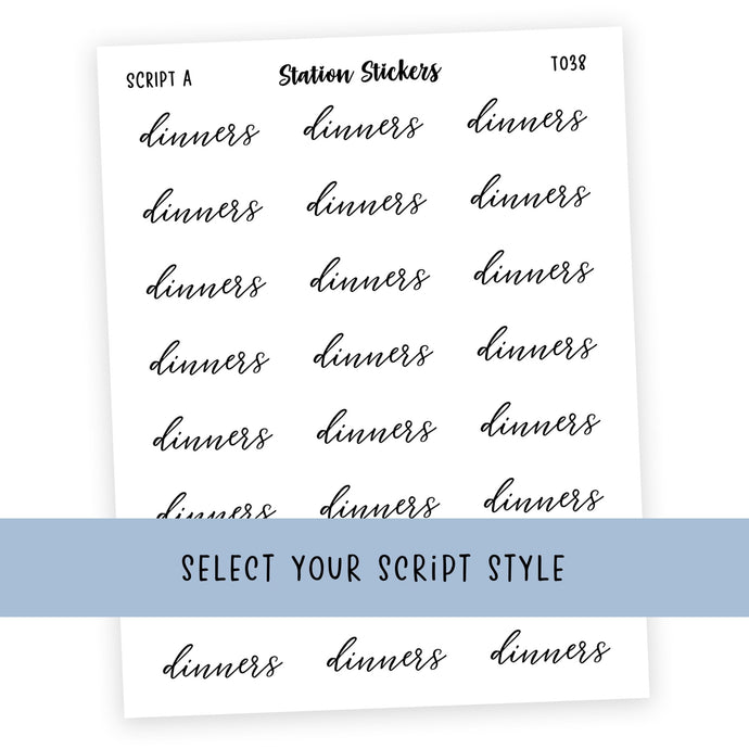 DINNERS • SCRIPTS - Station Stickers