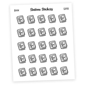 FOILED ICONS • BOOK Fun Stickers Station Stickers
