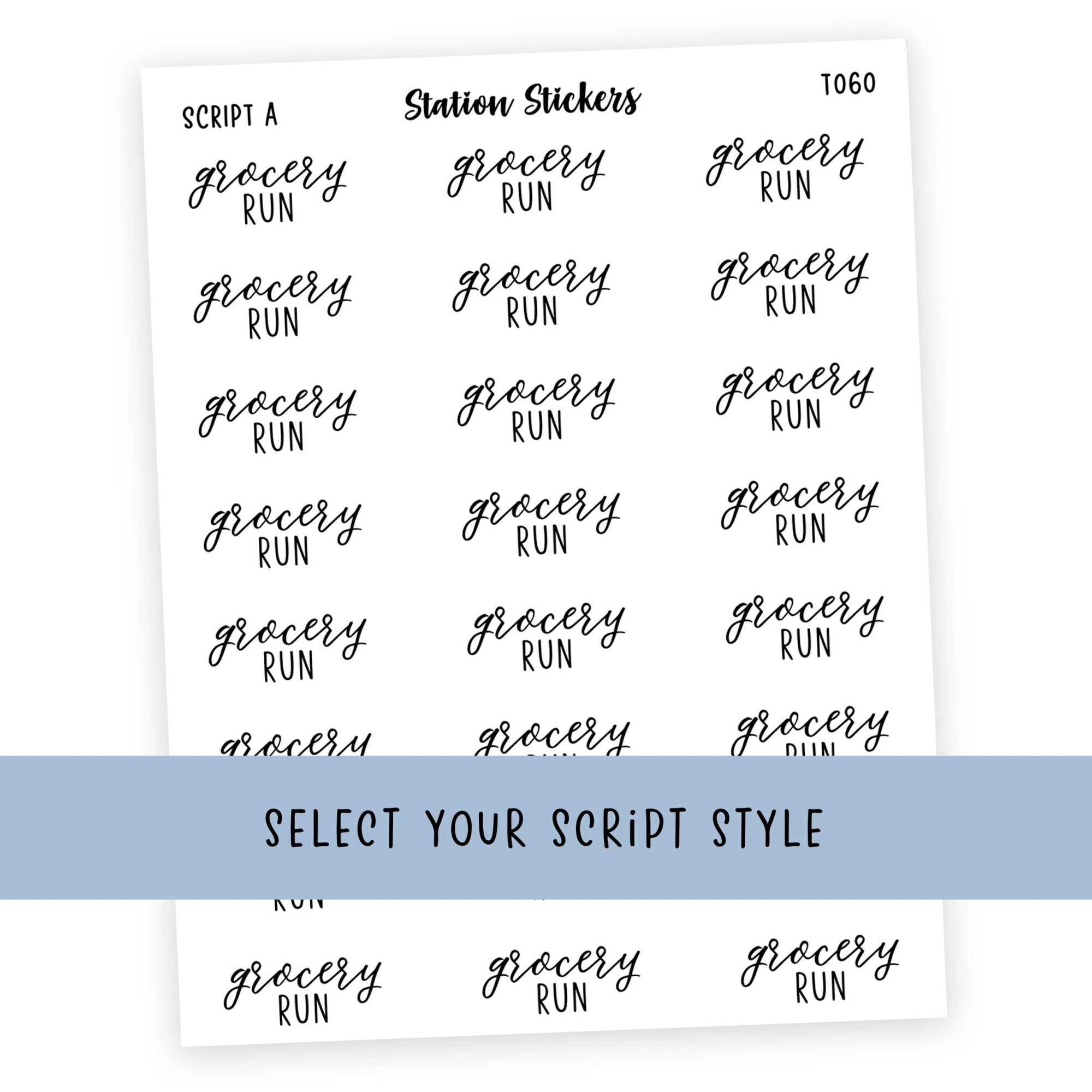 GROCERY RUN • SCRIPTS - Station Stickers