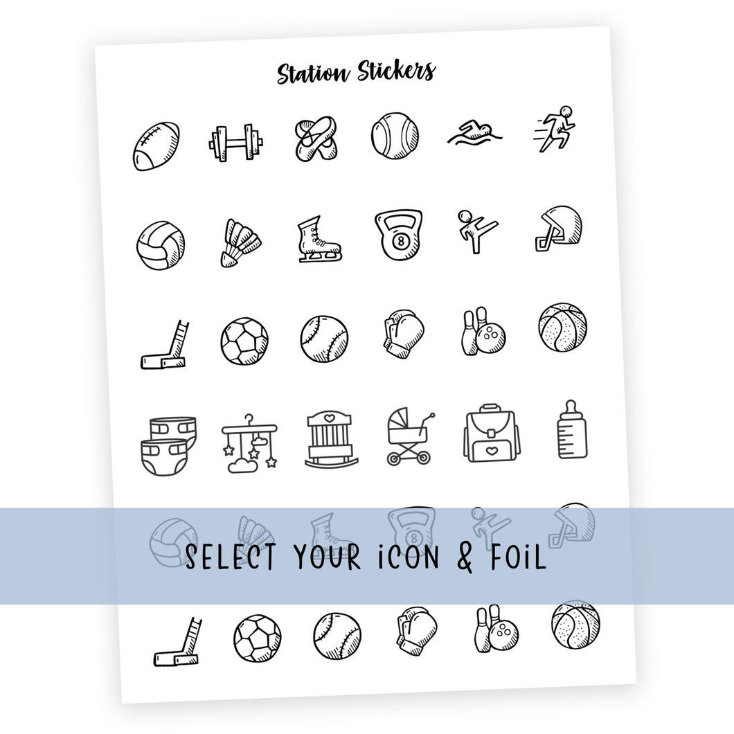 GROUP 4 • ICONS - Station Stickers