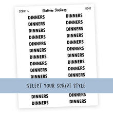 Load image into Gallery viewer, HEADER • DINNERS - Station Stickers