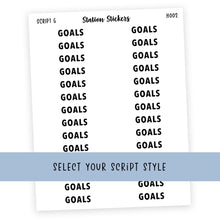 Load image into Gallery viewer, HEADER • GOALS - Station Stickers