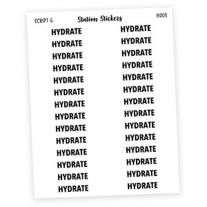 HEADER • HYDRATE - Station Stickers