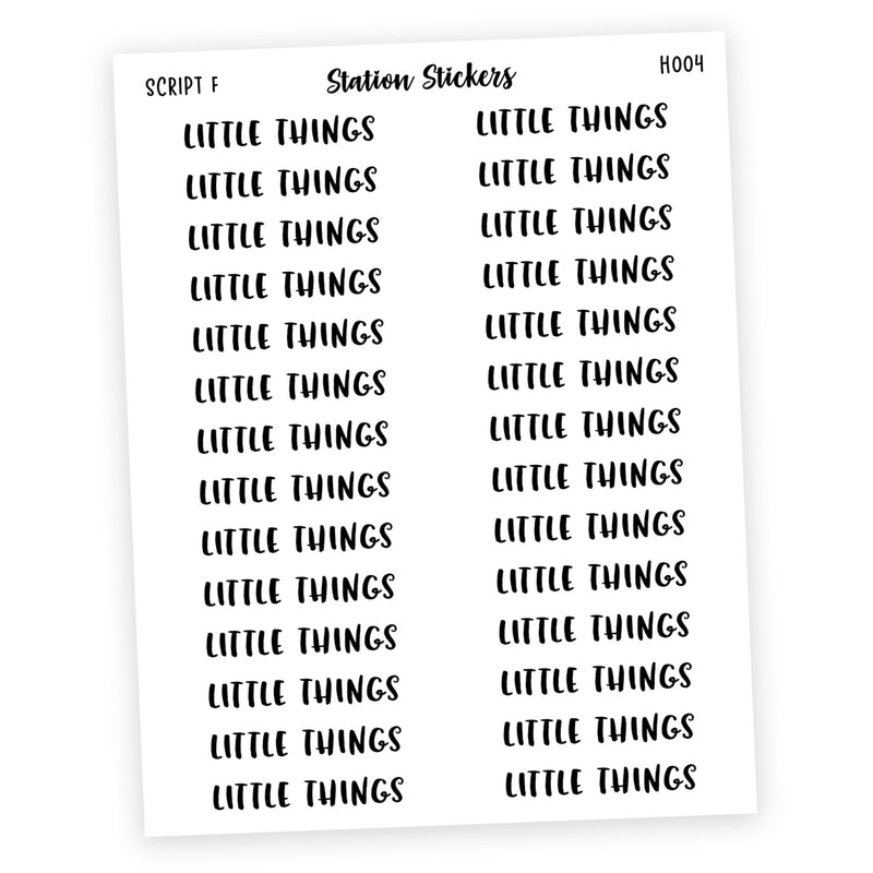 HEADER • LITTLE THINGS - Station Stickers