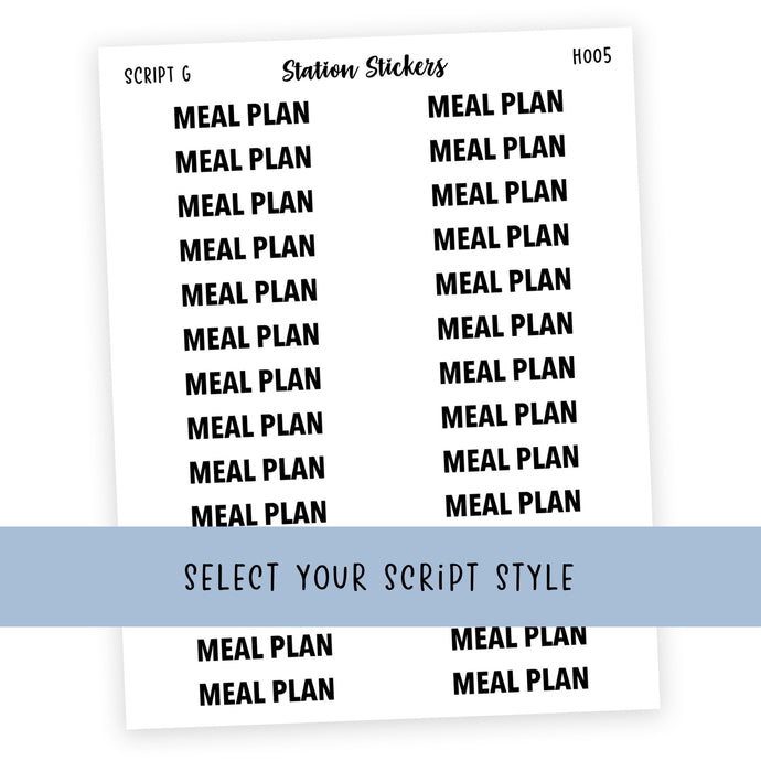 HEADER • MEAL PLAN - Station Stickers