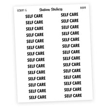 Load image into Gallery viewer, HEADER • SELF CARE - Station Stickers