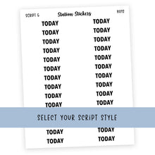 Load image into Gallery viewer, HEADER • TODAY - Station Stickers