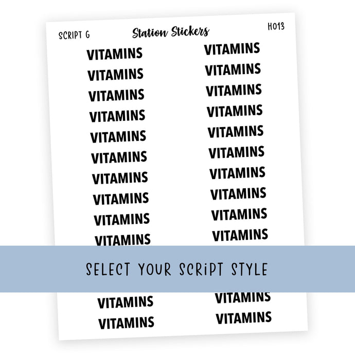 HEADER • VITAMINS - Station Stickers