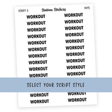 Load image into Gallery viewer, HEADER • WORKOUT - Station Stickers