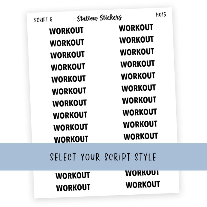 HEADER • WORKOUT - Station Stickers