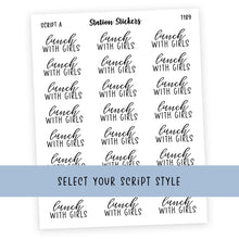 Load image into Gallery viewer, LUNCH WITH THE GIRLS • SCRIPTS - Station Stickers