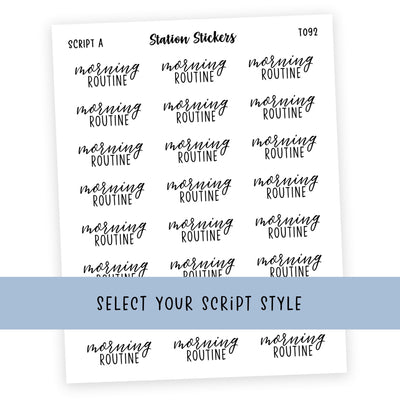 MORNING ROUTINE • SCRIPTS - Station Stickers