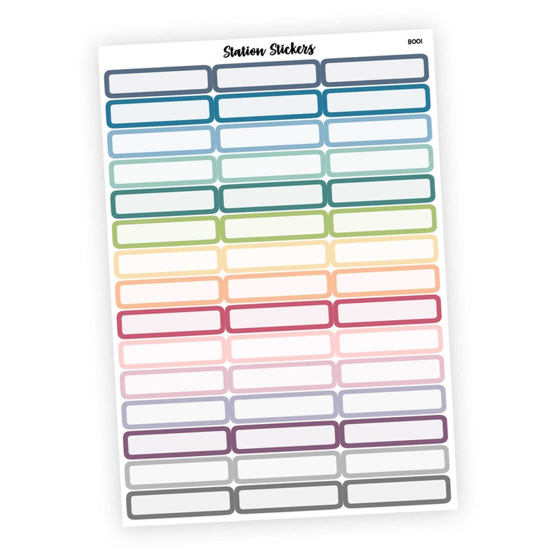 Multicolor • Skinny Label Stickers