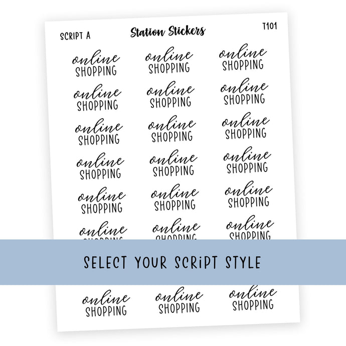 ONLINE SHOPPING • SCRIPTS - Station Stickers