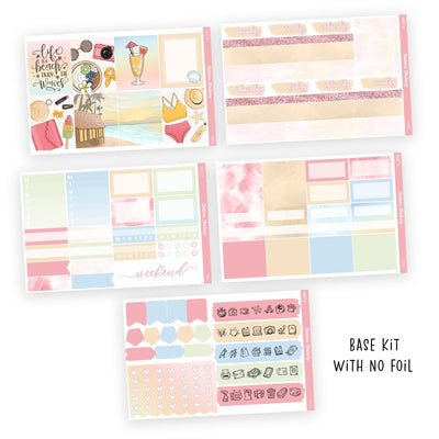 PRINTABLE WEEKLY STICKER KIT • CORAL - Station Stickers