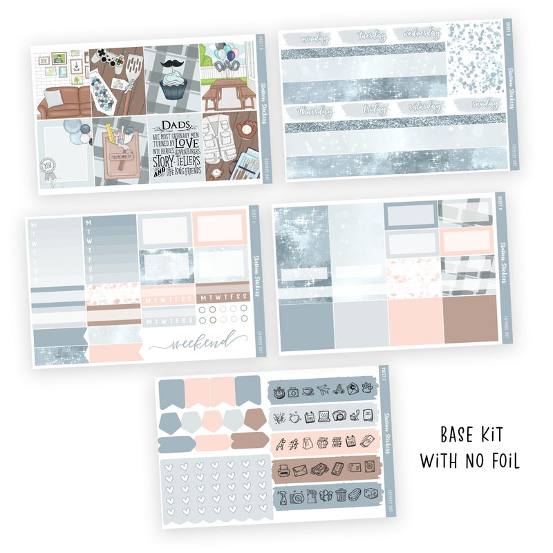 PRINTABLE WEEKLY STICKER KIT • FATHER'S DAY