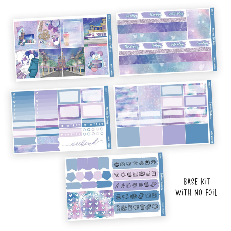 PRINTABLE WEEKLY STICKER KIT • MAGIC KINGDOM