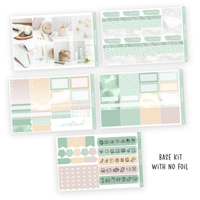 PRINTABLE WEEKLY STICKER KIT • MINT - Station Stickers