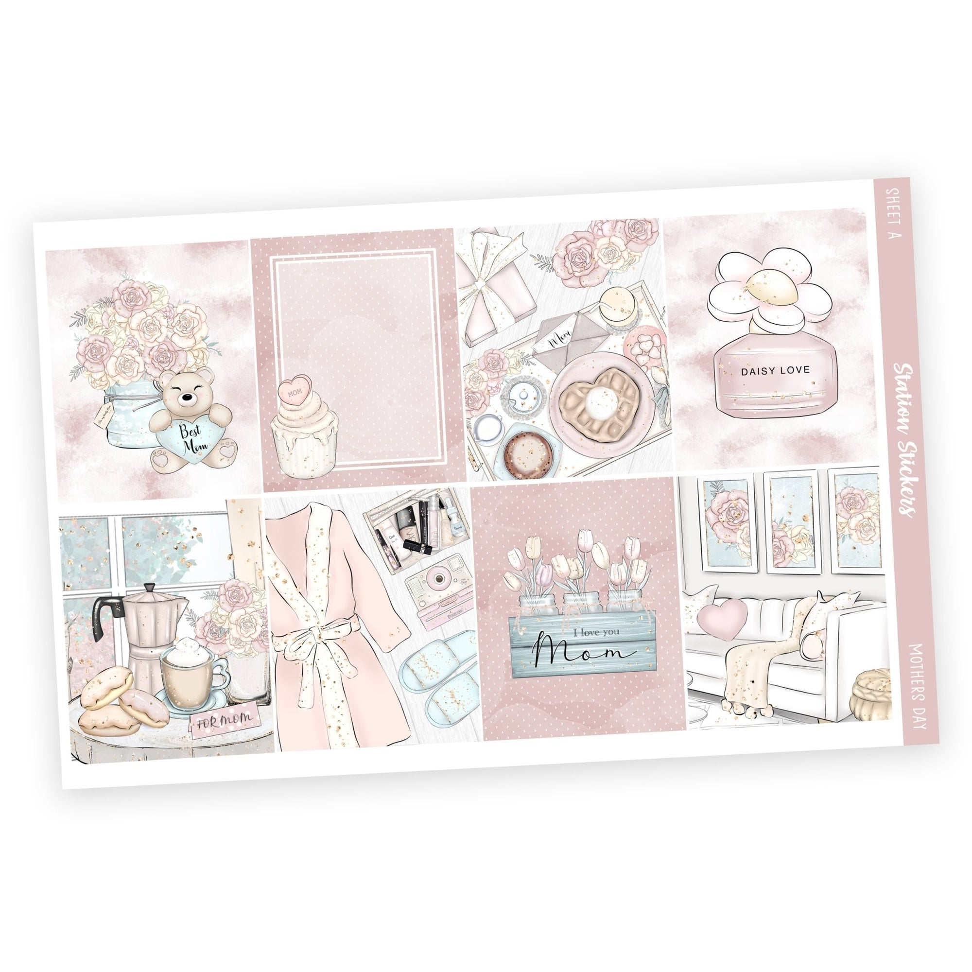 PRINTABLE WEEKLY STICKER KIT • MOTHERS DAY