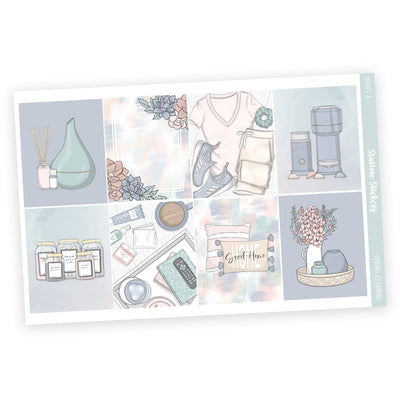 PRINTABLE WEEKLY STICKER KIT • SPRING CLEANING - Station Stickers