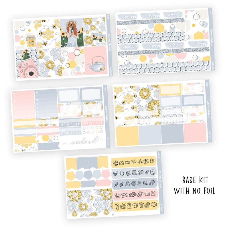PRINTABLE WEEKLY STICKER KIT • SUNFLOWER