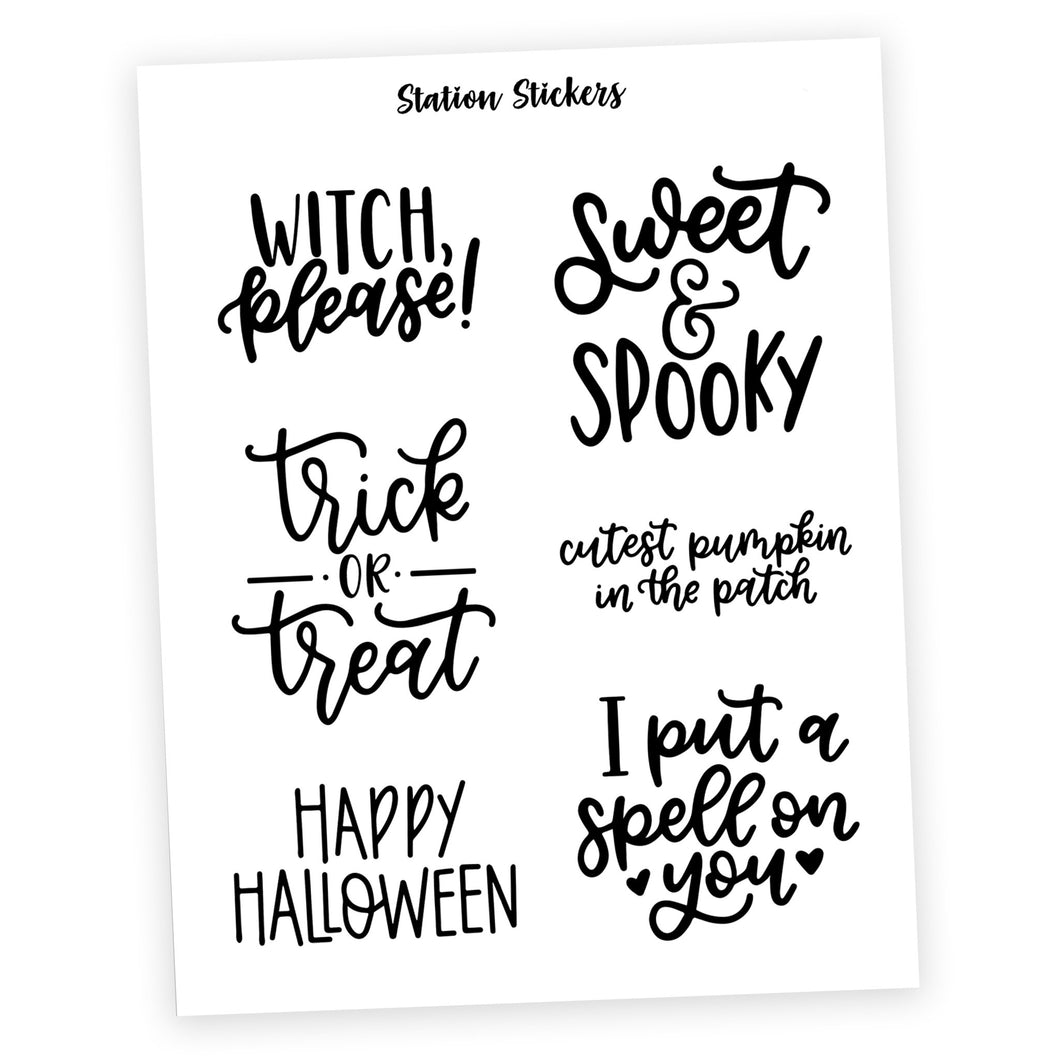 QUOTES • HALLOWEEN - Station Stickers