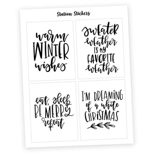 QUOTES • HOLIDAY - Station Stickers