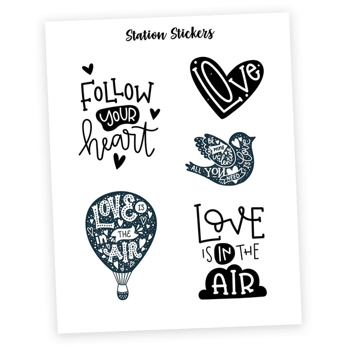 QUOTES • LOVE - Station Stickers