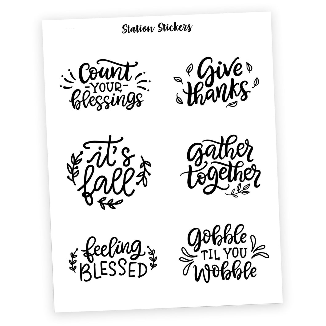QUOTES • THANKFUL - Station Stickers