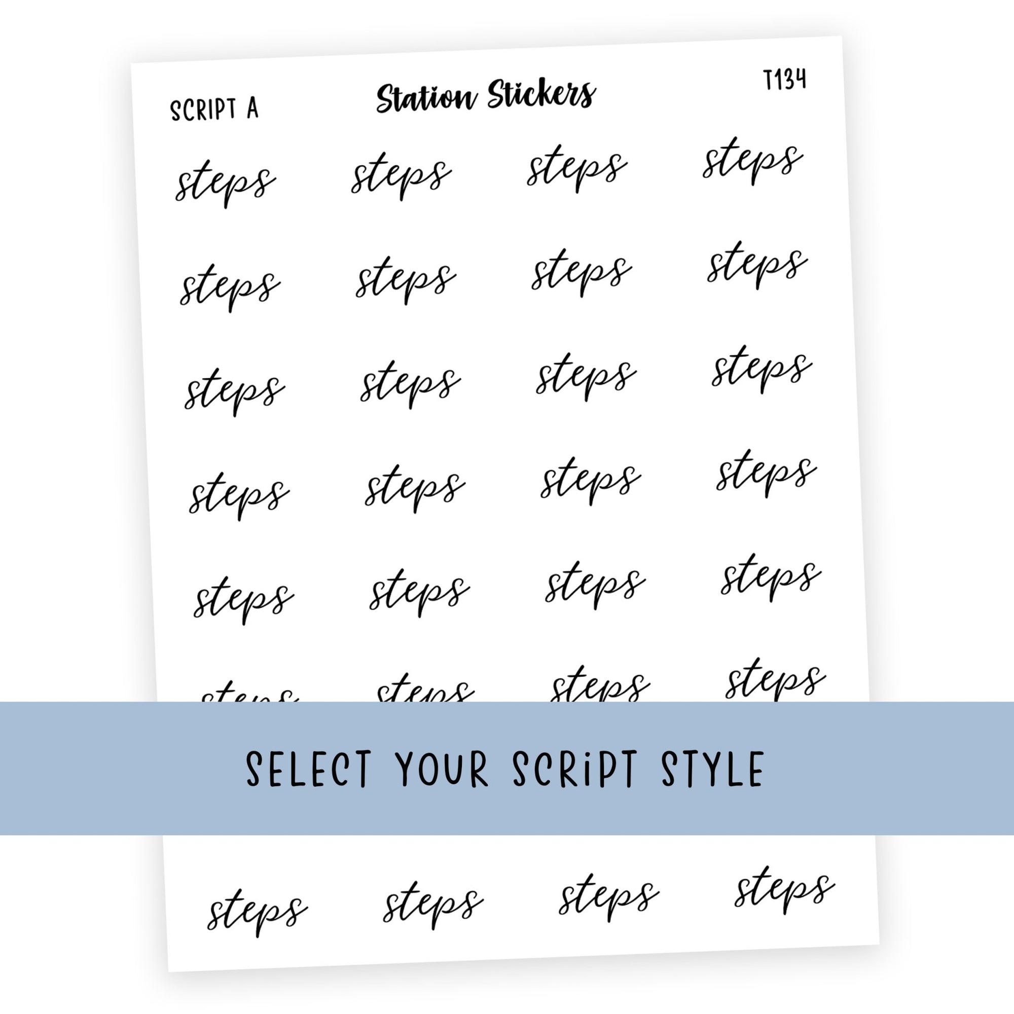 STEPS • SCRIPTS - Station Stickers