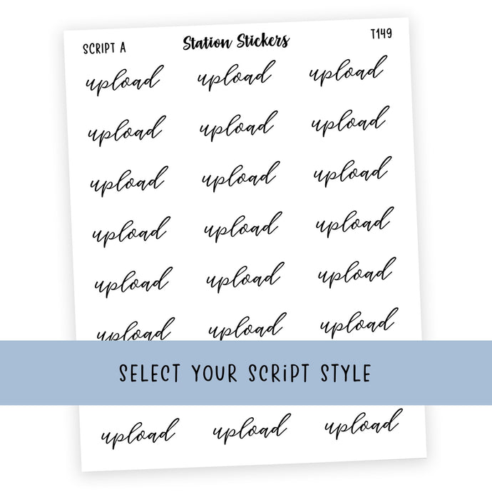 UPLOAD • SCRIPTS - Station Stickers
