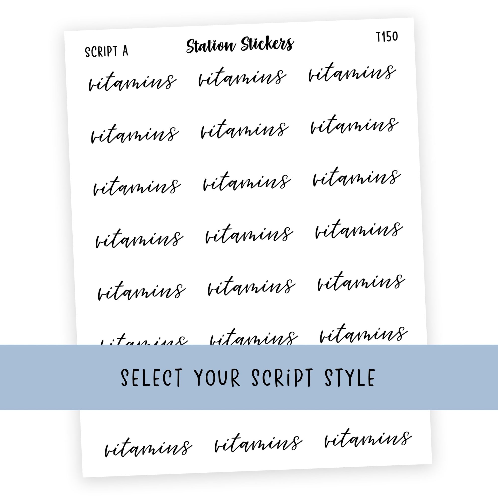 VITAMINS • SCRIPTS - Station Stickers