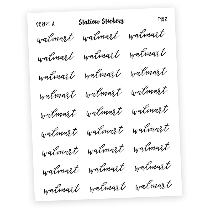 WALMART • SCRIPTS - Station Stickers