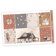 Load image into Gallery viewer, WEEKLY STICKER KIT • AUTUMN FLORALS - Station Stickers