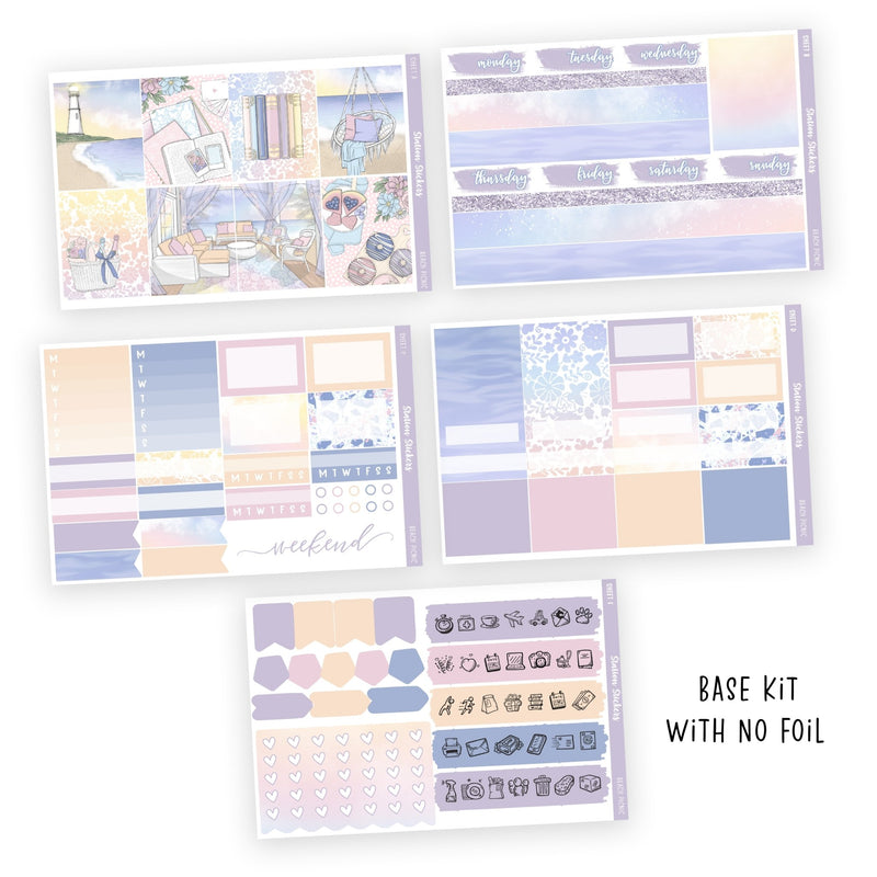 WEEKLY STICKER KIT • BEACH PICNIC - Station Stickers