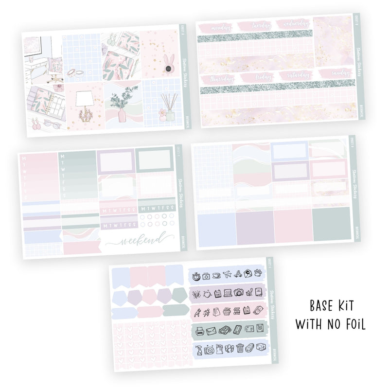 WEEKLY STICKER KIT • BOTANICAL-Station Stickers