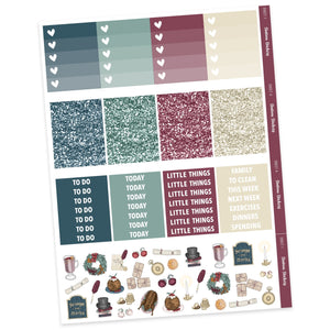WEEKLY STICKER KIT • CAROL - Station Stickers