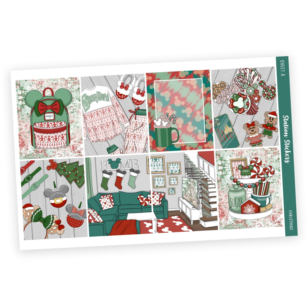 WEEKLY STICKER KIT • CHRISTMAS - Station Stickers